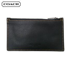 コーチ COACH 小物 カードケース F22879 BLK ジップ カードケース ブラック アウトレット[並行輸入品]【メンズ レディース ギフト ブランド 無地 カード入れ ビジネス 黒】