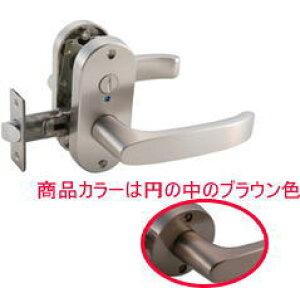 マツ六 MJ24レバー 表示錠 トイレ錠 ブラウン バックセット:50mm 扉厚:29〜45mm (MJL-24-4K-Br) [ ドア レバーハンドル ドアノブ トイレ 交換 室内 通路 廊下 住宅建材 取っ手 鍵付き 花・ガーデン・