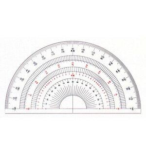 ドラパス 半円分度器15cm アクリル製 16-504 180ド