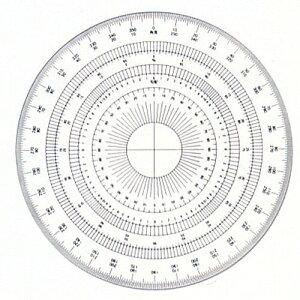 ドラパス 全円分度器15cm アクリル製 16-512 360ド