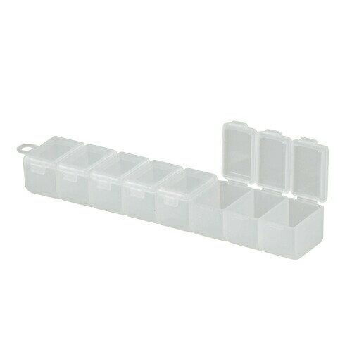 メイホウ 8連ケース [ サプリメントケース プラスチック 収納 ツールボックス 工具箱 薬入れ 薬ケース 小物入れ ケース 箱 仕切り ボックス ] 花・ガーデン・DIY DIY・工具 作業用品 パーツケース