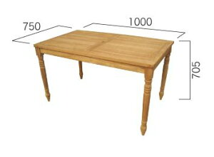 コンビネーションテーブル長方形天板1007型+丸脚70 W1000×H705×D705mm[ ガーデンテーブル 木製 家具 テラス 庭 バルコニー diy 通販 ]