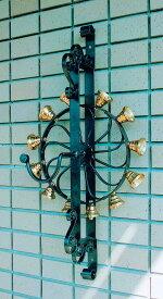 回転ベル 直径350×D200×H780mm[ エクステリア 玄関 ベル アイアン チャイム 呼び出しベル 呼び出しチャイム 呼び鈴 ]