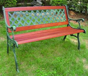 クロスベンチ W1270×H810 [ ガーデンファニチャー ガーデンベンチ ガーデンチェア イス 椅子 木製 家具 アイアン テラス 庭 バルコニー diy 通販 ]