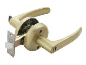 マツ六 兼用取替レバー錠 トイレ錠 ゴールド バックセット:60mm 扉厚:30~40mm | レバーハンドル ドアノブ 種類 交換 取替 室内 ドア レバー