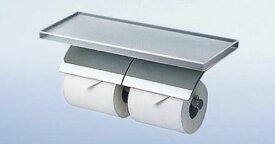 TOTO 棚付二連紙巻器(高透過ガラス製)YH63GWS [ トイレ 紙巻器 トイレットペーパーホルダー 2連 シンプル インテリア トイレ用品 ワンタッチ ダブル ] インテリア・寝具・収納 収納家具 トイレ収納 ペーパー収納 ホルダー