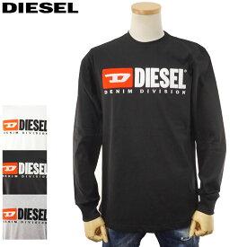 【SALE★20%OFF】ディーゼル DIESEL 長袖Tシャツ ロンT メンズ ロゴ ホワイト/ブラック/グレー S/M/L/XL/2XL/3XL 00SLJY 0CATJ