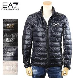 エンポリオアルマーニ EMPORIO ARMANI ライトダウン ジャケット EA7 メンズ ブラック×ゴールドロゴ/ブラック×シルバーロゴ/ネイビー×シルバーロゴ/ライトグレ×シルバーロゴー S/M/L/XL/2XL/3XL 8NPB01 PN29Z