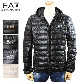 エンポリオアルマーニ EMPORIO ARMANI ライトダウン ジャケット EA7 メンズ ブラック×ゴールドロゴ/ブラック×シルバーロゴ/ネイビー×シルバーロゴ/ライトグレ×シルバーロゴー S/M/L/XL/2XL/3XL 8NPB02 PN29Z