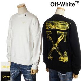 オフホワイト OFF WHITE スウェットトレーナー メンズ ホワイト/ブラック S/M/L/XL OMBA025F19E30010