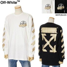 オフホワイト OFF WHITE ロングTシャツ 長袖 メンズ ホワイト/ブラック S/M/L/XL/2XL OMAB001R20185002