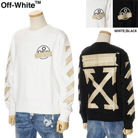 オフホワイト OFF WHITE トレーナー スウェット メンズ ホワイト/ブラック S/M/L/XL/2XL OMBA025R20E30002