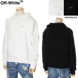 オフホワイト OFF WHITE プルオーバー パーカー スウェット メンズ ホワイト/ブラック S/M/L/XL OMBB034R20D25032