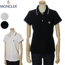 モンクレール MONCLER 鹿の子 ポロシャツ レディース ホワイト/ブラック XS/S/M/L 093 8A70200 84667