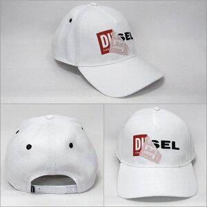 DIESEL帽子キャップロゴ入りホワイト系フリー00S9GM0LAOI100[50024]