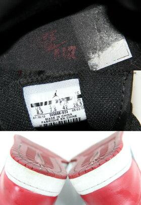 NIKE/ナイキエアジョーダン1ブレッドハイカットスニーカーAIRJORDAN1RETROHIGHOG555088-023サイズ:US8.526.5cmカラー:レッド/ブラックBC付属なし