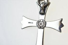 CHROMEHEARTS/クロムハーツラージCHクロスネックレストップベイル付カラー:シルバーBC付属なし細かい傷、スレ44.90g76.0mm50.4mm