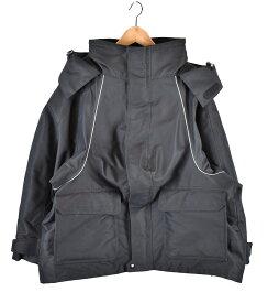 BALENCIAGA/バレンシアガ 18AW ロゴ刺繍スキージャケット SWING PARKA SKI JACKET  517990 TYD32 サイズ:42 カラー:ブラック【中古】【古着】【USED】【190516】【yast】