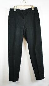 HERMES/エルメス レザーパイピングコットンパンツ サイズ:52 カラー:ブラック【中古】【古着】【USED】【200402】【yast】