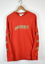 DOMICILE/ドミサイル プリントロングスリーブTシャツ サイズ:M カーラ:レッド【中古】【古着】【USED】【200115】【yast】