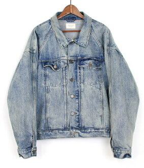 FEAR OF GOD / far of good FOURTH COLLECTION DENIM RAGLAN TRUCKER JACKET of denim jacket size: l color: Blue s7 unread ya
