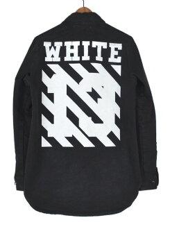 关闭白 14 SS 牛仔衬衫牛仔衬衣外套尺寸: xs 颜色: 黑色 s7 崖 HP 所有项目保证 100%正宗!