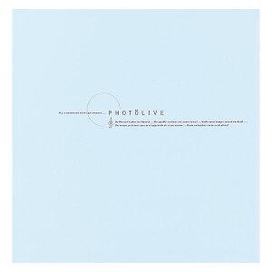 ナカバヤシ フエルアルバムDigio フォトライブ ブルー LPF-1002-B 【貼り付け式 粘着 フリーアルバム フォトアルバム 集合写真】 #101#