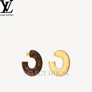 【送料無料】【SELECTHOUSE☆セレクトハウス】LOUIS VUITTON ルイ・ヴィトン フープ ワイルドLV ピアス