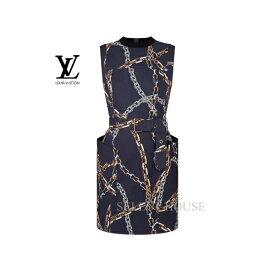 【SELECTHOUSE☆セレクトハウス】【新品】【お取り寄せ15日から25日】【送料無料】【21SS】LOUIS VUITTONチェーンプリントベルテッドフィットドレス
