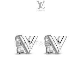 【送料無料】【SELECTHOUSE☆セレクトハウス】【お買い得】【春・夏モデル】LOUIS VUITTON ルイ・ヴィトン 2018SSスタッズ イヤリング・エセンシャル V シルバー