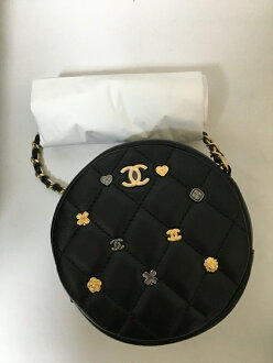 Matelasse chain clutch lambskin black G metal fittings with the considerably rare new work mini-shoulder Chanel CHANEL charm