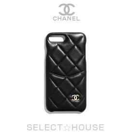 CHANEL シャネル iPhone 7 Plus & 8 Plus クラシック ケース【19A】【SELECTHOUSE☆セレクトハウス】ブラック ゴールド iPhoneケース スマホケース
