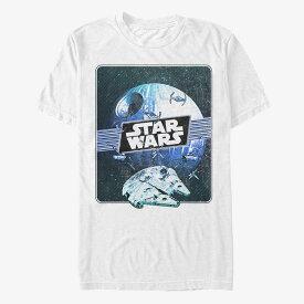スターウォーズ StarWars ミレニアムファルコン デス スター Tシャツ 半袖 レディース メンズ