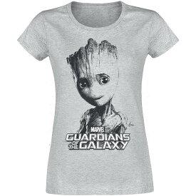 マーベル Marvel ガーディアンズ・オブ・ギャラクシー グルート Tシャツ 半袖 レディース