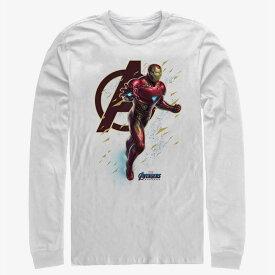 マーベル Marvel アイアンマン Tシャツ 長袖 長袖/ロングスリーブ アベンジャーズ エンドゲーム レディース メンズ
