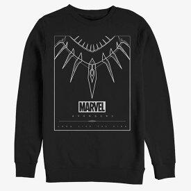 ブラックパンサー スウェット マーベル Marvel Black Panther Panther Necklace Sweatshirt レディース メンズ