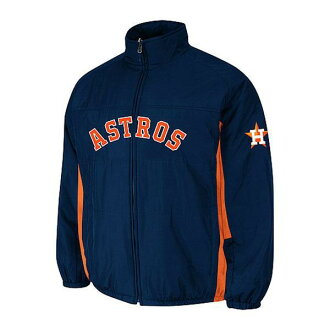 MLB Astros jacket Navy majestic /Majestic (On-Field Authentic Double Climate Jacket)