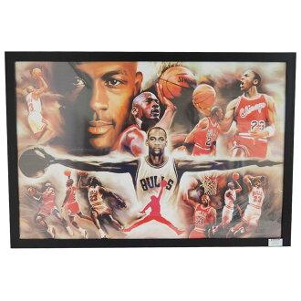nba bulls michael jordan michael art collage poster with frame - Michaels Collage Frames