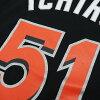 雄偉的美國職棒大聯盟大馬林魚 # 51 一郎鈴木球員 T 恤 JPN Ver (黑色)