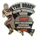ペイトリオッツ トム・ブレイディ シーズン タッチダウン レコード 記念 ピンバッジ NFL