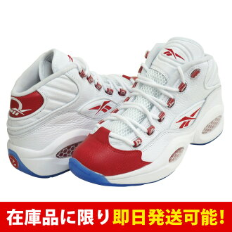 f436be5aabd6 MLB NBA NFL Goods Shop  AI Allen Iverson QUESTION MID Reebok  Reebok White Pearlized  Red
