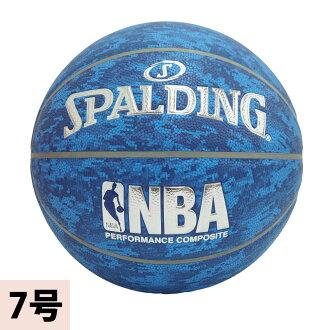 NBA basukettoborukomandasuporudingu/SPALDING蓝色