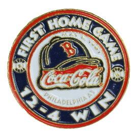 MLB レッドソックス ア・リーグ加盟 100周年記念 コカ・コーラ ピンバッジ First Home Game 12-4 Win
