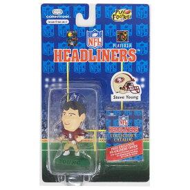 NFL 49ers スティーブ・ヤング ヘッドライナーズ 1996 エディション NIB フィギュア コリンシアン/Corinthian ホーム レアアイテム