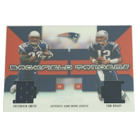 NFLペイトリオッツトム・ブレイディ2003アントウェイン・スミス&トム・ブレイディバックフィールドタンデムスユニフォームカードプレーオフ/Playoff