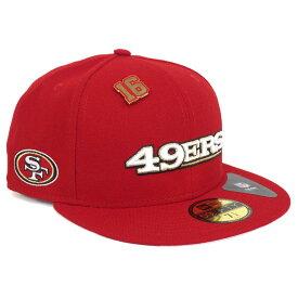 NFL 49ers ジョー・モンタナ 59FIFTY ハイライト ピンズ キャップ/帽子 ニューエラ/New Era【1910セール】【191028変更】