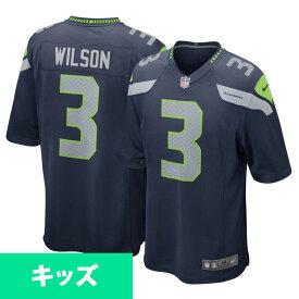NFL シーホークス ラッセル・ウィルソン キッズ ゲーム ユニフォーム/ユニホーム ナイキ/Nike ネイビー SEAUWB41【1910セール】