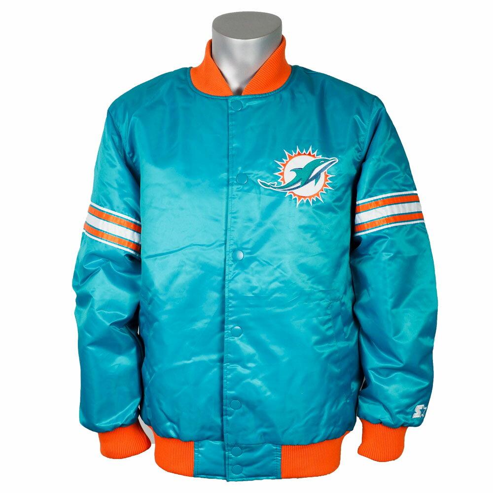 NFL ドルフィンズ ジャケット/アウター ドラフトピック バーシティ サテン スターター/Starter