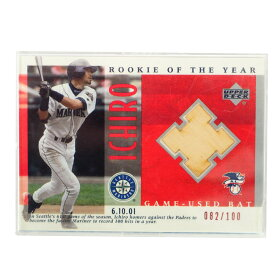 MLB イチロー シアトル・マリナーズ トレーディングカード/スポーツカード 2001 Rookie Ichiro #B-14 82/100 Game Bat Upper Deck