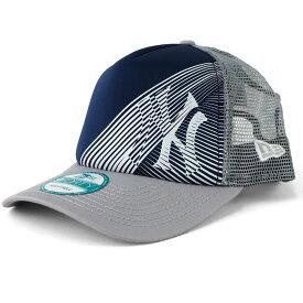 MLB ニューヨーク・ヤンキース キャップ/帽子 オークリー 9FORTY トラッカー メッシュ ニューエラ/New Era グレー/ネイビー
